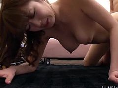 Hosaka climbed on top of me and wrapped her pussy lips around my cock. She wouldn't let go, until I came in her warm hole. I went in deep and spunked inside, it dripped out of her Japanese cunt. This is a great creampie!