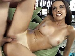 Sultry honey Dillion Harper makes a dirty dream of never-ending fucking with hard dicked guy a reality