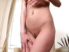 Blonde Ann Marie La Sante is ready to play with her pussy hole all day long