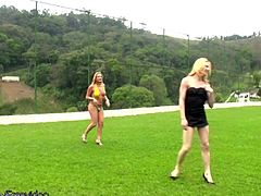 What could be more stimulating then a hot game of tranny volleyball? Throwing a blanket on the ground and having a tranny group orgy. This sexy shemale foursome decide that having a group sex...