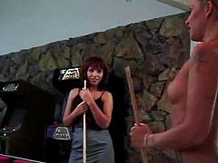 Daisy Chain And Veronica Have Some lesbo funtime onto A Pool Table