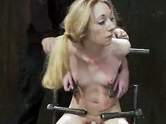 Submissive Blonde has bound Up And bumped inside crazy pain pleasure movie