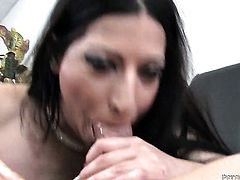 Sex hungry honey Domenic Kane is in the mood for pole sucking