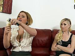 Krissy Lynn enjoys guys worm in her mouth in crazy oral action