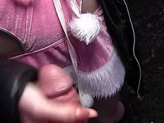 I found this bunny on the roadside and offered her a good deal. In exchange of money, I asked her for a public blowjob. The place was abandoned, so she agreed. Watch redhead bunny, hungrily licking my hard dick, on knees, for some cash. While she was sucking, a few people walked past. Enjoy the inciting details!