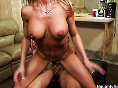 Blonde Brandi Love does dirty things and then gets covered in love cream