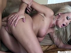 Blonde slutty milf Diana Doll gets visited by a young man doing a fund raiser. She demanded to getfucked in exchange for her buying all of the tickets.