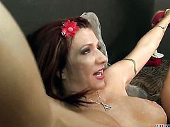Naughty breathtaker Brittany Blaze demonstrates her naughty bits while getting her eager banged hard and deep by horny as hell guy
