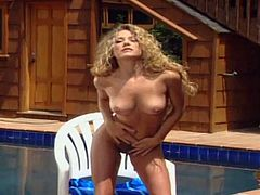 Hot amateur girls stripping naked by the pool