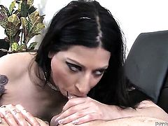 Domenic Kane lets man fuck her sweet mouth