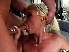 Lauro Giotto gives unbelievable oral pleasure to hard dicked bang buddy by blowing his love torpedo