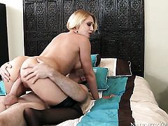 Blonde Kagney Linn Karter with round ass and clean snatch gets cum glazed on camera for your viewing enjoyment