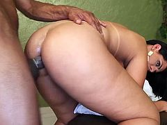 Big booty Latin Tgirl fucks black guy