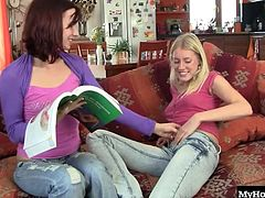 Leila Smith and Kathy are lesbian sweethearts that havent been intimate in a while. It feels good to get those gears grinding again as Leila holds Kathys hair back during oral sex. Scissor fucking has never bee so passionate, and the girls are feeling things they never thought possible right in the privacy of their own home