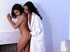 Brandy and Darcie are the most erotic and dirty lesbian partners. Their romance can turn on any dick in this world. Their passion for each other's body is gigantic. They lick pussies and kiss each other.