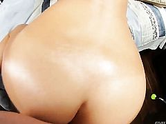 Kevin Moore displays her body parts while getting her eager dicked hard and deep by horny as hell guy