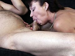 Herschal Savage has hardcore fun with hard cocked dude