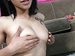Asian Johnny Fender and her horny fuck buddy both enjoy blowjob session