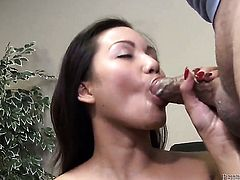 Johnny Fender spends her sexual energy with hard cocked guy in interracial hardcore action
