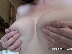 lactation and squirting nipples at the hotel room