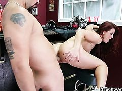 Piercings oriental Karlie Montana with big butt and hairless twat cant stop fucking