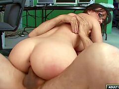 Secretary Jennifer White fucks her big dick boss hardcore