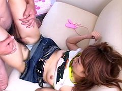 Saeki Mako is a dirty, hot slut, who enjoys cocks more than anything. Watch sexy skinny Japanese slut, with small tits, in miniskirt, how she gets her hairy pussy ready for sex and, how she gives blowjob. Then she gets drilled form behind. Enjoy the details!