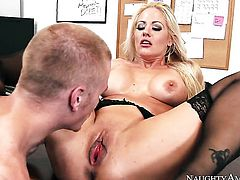 Blonde oriental is totally addicted to cum