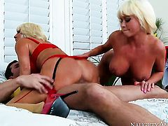 Blonde Nikita Von James with phat butt and smooth muff loses control in fucking frenzy