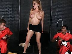 Blonde Bill Bailey  Wrexxx Kidneys with juicy breasts has dick-hungry ass and takes care of dudes erect cock