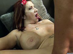 Cesar Agustus shows her love for cock sucking