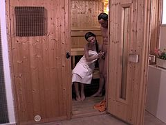Relaxxxed - Steamy sauna fuck and facial with Slovakian babe