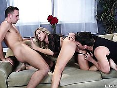 Blonde Keiran Lee  Toni Ribas is horny as hell and sucks dudes stiff meat pole with wild passion