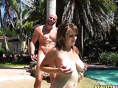 Brunette Jmac satisfies her sexual needs and desires with guys fuck stick in her mouth