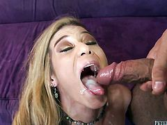 Johnny Fender loves getting her mouth slammed by hot fuck buddy