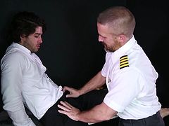 Dirk is the hottest pilot I've ever seen and I love being Dirk's slut. I like to show my love for him, by shoving my tongue between his ass cheeks, finding his asshole, licking it and eating it like crazy, while he moans with so much pleasure.