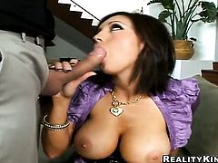 Mature Dylan Ryder with giant melons and clean muff puts her fingers in her fuck hole