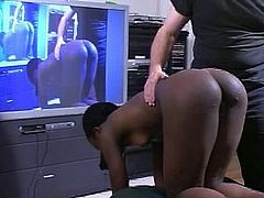 Ebony girl spanked