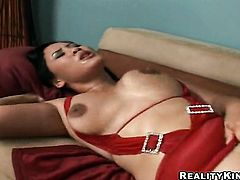 Brunette oriental Jessica Bangkok with juicy ass fucks a lot before getting enough in interracial porn action
