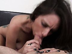 Domenic Kane and her hot fuck buddy are in the mood for oral sex