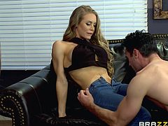 A hot wife with big tits feels aroused, when she and her partner are accompanied by another slutty bitch. The sexy ladies undress and start sucking Charles' dick with fervor. Click to watch this versed milf and her companion fucked hard.