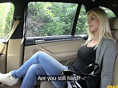 Sexy Nathaly knows how to appreaciate being complimented for her nice tits. Click to watch this blonde-haired slut, sucking the driver's cock, in the backseat. She says it's the first time she does this in a cab. How wild is that? Enjoy the spicy details.