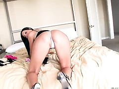 Tender cutie Kevin Moore keeps her legs apart to be fucked over and over again