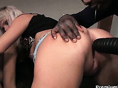 Silvie Delux has some time to get some interracial pleasure with guys erect schlong in her pussy
