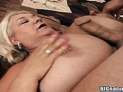 Blonde Linda is good on her way to make hard cocked dude ejaculate on oral action