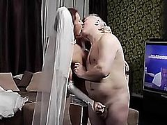 Old Stud and Youthful Bride hardcore fellatio doggy position porn fearsome-menacing 23 min