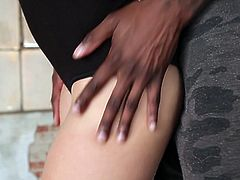 Cassidy was learning some steps from Jon Jon, but a break and a little closeness started something else. Before she knew it, she was trying to gobble her instructor's thick, black cock. Horizontal mambo lessons coming next...