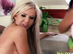 Blonde Renato gets down on her knees to be face fucked