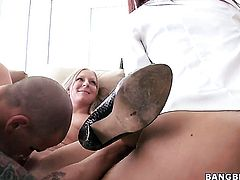 Blonde sexy Tara Holiday finds herself getting hammered again