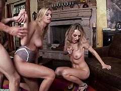 Blonde Natalia Starr loves getting her mouth stuffed by horny dude